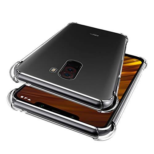 Zouzt Stoßstange TPU Case Kompatibel mit Xiaomi Poco F1, Ultra Slim Soft Flexible Silikon Gel Schützende Rückentaschen, transparente klare Luft Kissen Tropfen Schutzhülle