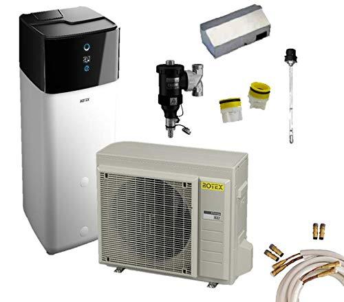 Rotex Luft-Wasser-Wärmepumpen Set HPSU compact Ultra 308 Biv 8 kW