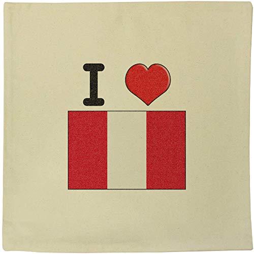Azeeda 40cm x 40cm 'I Love Peru' Canvas Cushion Cover (CV00000200)