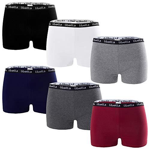 Libella® Panties Boxershorts Damen 6er Pack Hipsters Unterhose Unterwäsche Set Baumwolle 3429 M