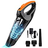 Portable Handheld Vacuum Cordless Cleaner - High Power Suction Wireless  Vacuums Cleaners Powered by Battery Rechargeable - Mini & Small Hand Held Vac for Home Pet Hair Car Cleaning