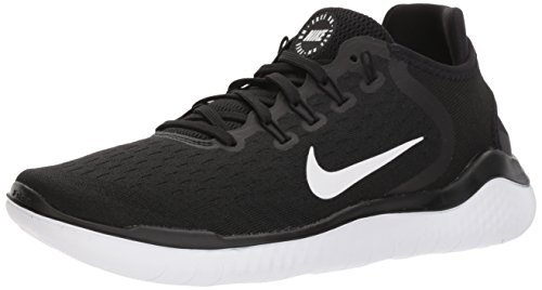 Nike Women's Free RN 2018 Running Shoe Black/White Size 7.5 M US