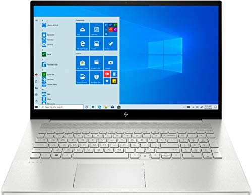 HP Envy 17.3 Inch FHD Touch-Screen 512GB SSD + 32GB Optane i7 2-in-1 Laptop (12GB RAM, Quad-Core i7-1065G7, GeForce MX330, Windows 10 Home) Natural Silver 17M-CG0013DX