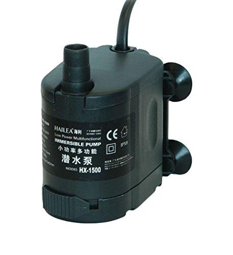 Hailea HX-1500 Regelbare Pumpe, 400 l/h, maximal Förderhöhe 0,75 m, schwarz, 12x8x14 cm, 10-450-405