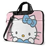 XCNGG Blue Kitty Laptop Bag Maletín de Negocios para Hombres y Mujeres, Bandolera de Hombro, Funda para computadora portátil, Bolsa de Transporte, 14 Pulgadas