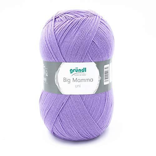 Gründl 2611-133 Big Mamma uni Wolle, Acryl, violett, 29 x 16 x 12 cm