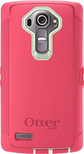 OtterBox Defender Case for LG G4 - Retail Packaging - Sage Green/Hibiscus Pink (Not Compatible with Leather LG G4)