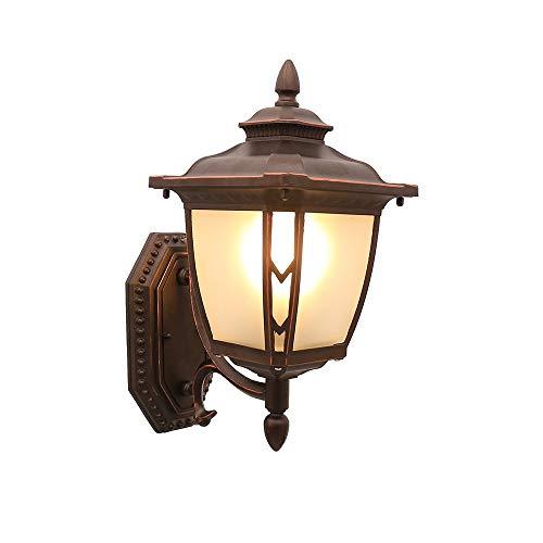 ZY Lantaarn Up/Down voor buitenwand, 1-lamp, E27, traditioneel, waterdicht, IP55 voor tuin, buiten, versierd (afmetingen: onder)