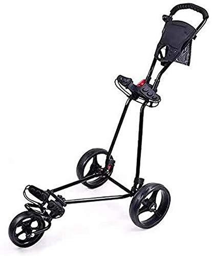 NSYNSY Golf Trolley Golf Cart Leicht faltbar mit 360 drehbarem Vorderrad, eine Sekunde zum Öffnen und Schließen des 3-Rad Golf Push Cart