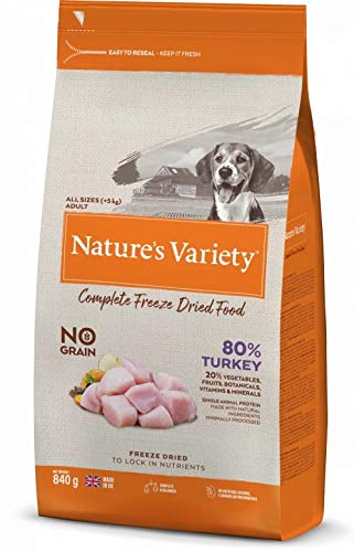 Natures Variety Dog Adult Freeze Dried Pure Whole Food Turkey 840G