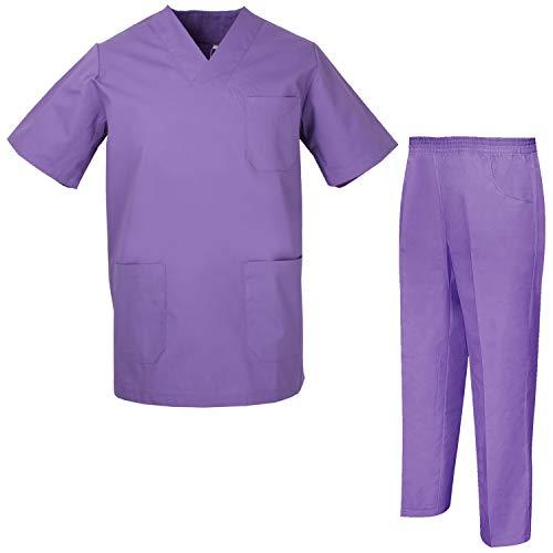 MISEMIYA - Pijama Sanitario Unisex Uniformes Sanitarios Uniformes Médicos 817-8312 - M, Casaca Sanitarios 817-13 Lila