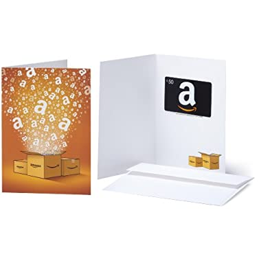 Amazon.com $50 Gift Card in a Greeting Card (Amazon Surprise Box Design)