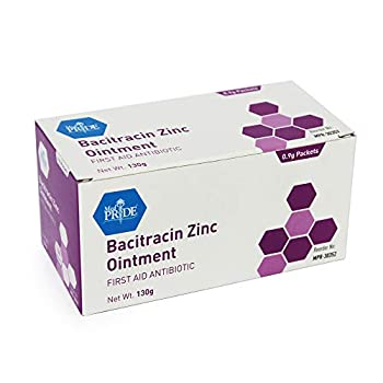 Medpride Antibiotic Ointment| Bacitracin Zinc Ointment| Essential Antibiotic First-Aid Supplies for Home| Relief for Chaffing Diaper Rash Dermatitis Eczema Itchy/Dry Skin| [0.9g] 144 Packets