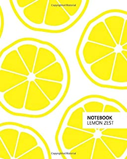 Notebook Lemon Zest: (White Edition) Fun notebook 192 ruled/lined pages (8x10 inches / 20.3x25.4 cm / Large Jotter)