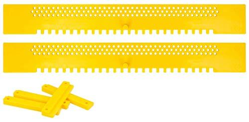Lantelme Fluglochschieber 2 Stück Bienen Fluglochverkleinerer und Scharniere Set Imker Imkereibedarf Bienenflucht Kunststoff gelb 7059
