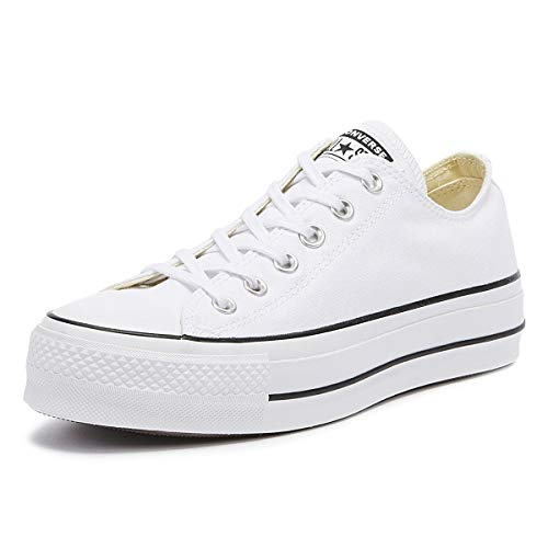 Converse Chuck Taylor CTAS Lift Ox Canvas, Zapatillas, Blanco White Black White 102, 35 EU