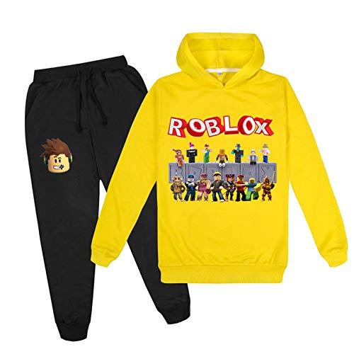 Sportswear Sets für Mädchen Jungen Cartoon Drucken Kapuzenpullover Sweatshirt und Hosen Sportanzug Trainingsanzüge/100