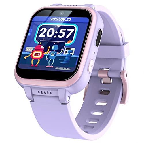 Smart Watch Kids SmartWatch Music Player Pedómetro Chico Digital juego Deportes Relojes Púrpura