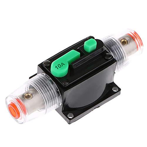 Interruptor de fusible automático, DC 12V / 24V Disyuntor de audio en línea Disyuntor Portafusibles Bloque de fusibles Disyuntor de reinicio manual para coche, barco, motocicleta