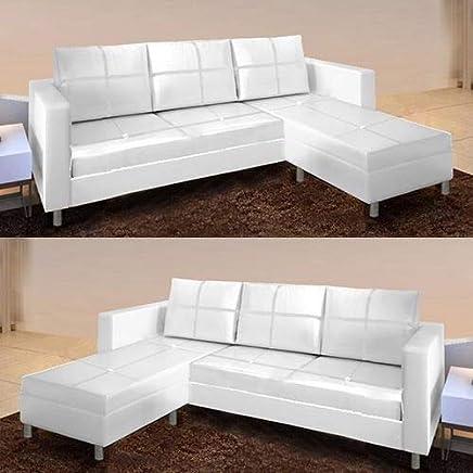 Amazon.es: Sofa Piel Blanco: Hogar y cocina