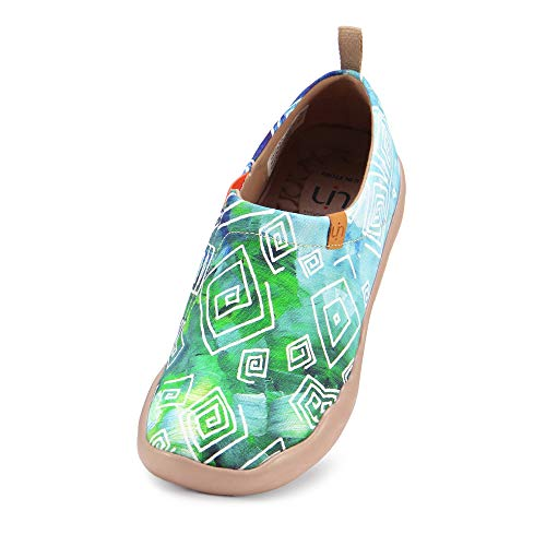 UIN Damen lieben im Frühjahr Canvas Loafer Schuh grün(38)