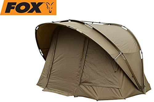 FOX R-Series 1 Man XL Khaki 235x295x165cm - Angelzelt zum Karpfenangeln & Wallerangeln, Karpfenzelt zum Nachtangeln, Zelt