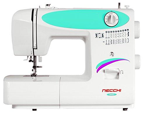 Necchi N83 Macchina per Cucire, Interno in pressofusione in Alluminio, scocca in ABS, Blu, Regular