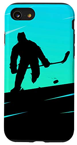 iPhone SE (2020) / 7 / 8 Shadow Ice Hockey Player Sports Team Puck Winter Game Gift Case