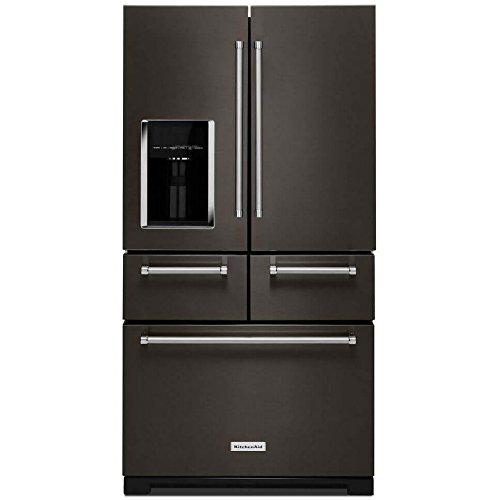 KitchenAid KRMF706EBS KRMF706EBS 25.8 Cu. Ft. Black Stainless Platinum  Interior French Door Refrigerator