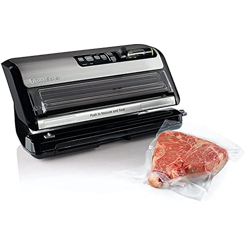 FoodSaver FM5200 2-in-1 Automatic Vacuum Sealer Machine with Express Bag Maker | Safety Certified | Silver, 9.3 x 17.6 x 9.6 inches