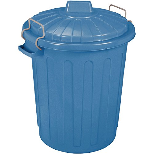 CURVER Abfalltonne Oscar 40x35x45cm in blau, Plastik, 40 x 35 x 45 cm