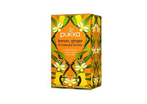 Pukka Lemon Ginger Manuka Hon Tisana, 20 Filtri