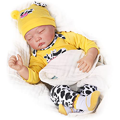 CHAREX Lifelike Reborn Baby Dolls Soft Body 22 Inch Realistic Newborn Baby Dolls Real Life Baby Dolls Gifts Toys for Collection & Kids Age 3+