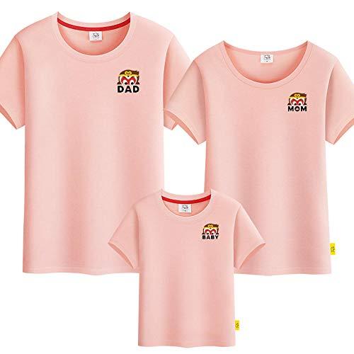 SANDA T-Shirt Bebe,Camiseta para Padres y nios, un jardn de Infantes de Manga Corta de Tres o Cuatro Grandes tamaos.-Rosa_Mam l