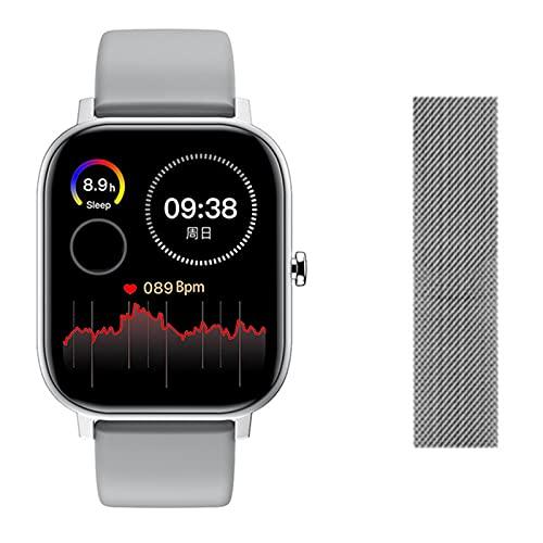 QLK L18 Bluetooth Sports Smart Watch 2021 Fitness Tracker Monitor De Ritmo Cardíaco Podómetro Pulsera Inteligente Aerobic Reloj Deportivo A Prueba De Agua para Android iOS,G