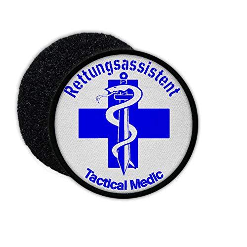 Copytec Patch Rettungsassistent Tactical Sanitäter Polizei Blue Line Mediziner #33287