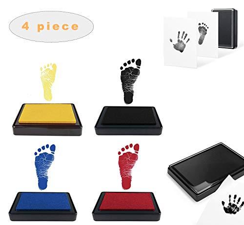 Kit de Almohadilla de Tinta para Bebé, Almohadillas de Tinta de Huella de Bebé Recien Nacidos, Impresión de Tinta de Recién Nacida, Huella de Tinta no Tóxica