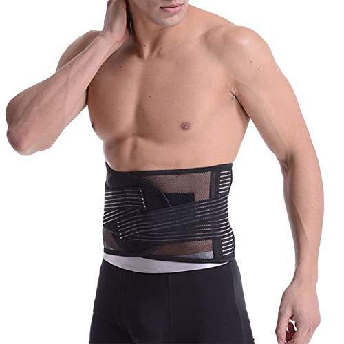 MOXIN Verstellbare Rückenstütze Rückengurt Rückenbandage Zuggurte zur Haltungskorrektur Arbeitsschutz Atmungsaktiv für Damen Herren, Rückenstabilisation, Perfekte Anpassung,Schwarz,XL