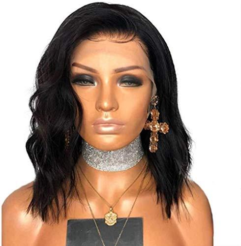 Ayhvia Korte Zwarte Krullend Haar Pruik Voorkant Pruik Voor Dames Dames 35Cm Gemiddelde Lengte Zwart Krullend Haar Hoge Kwaliteit Hittebestendige Dagelijkse Feestpruiken