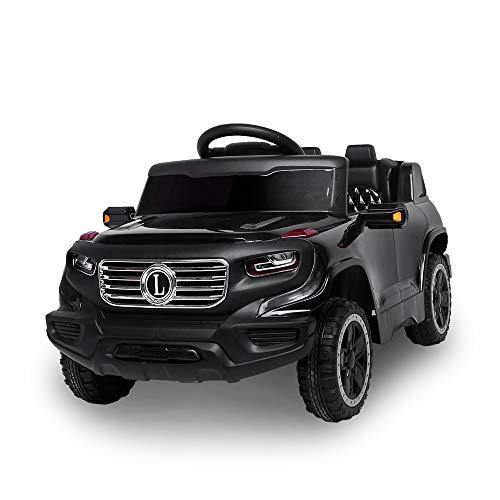 JOYMOR Kids Ride on Toy, Kids Truck 6V Battery Motorized Vehicles, w/Parent Remote Control, Children's Best Toy with 3 Speeds (Black)