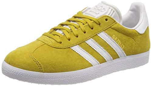 adidas Gazelle Scarpe da ginnastica Uomo, Giallo (Raw Ochre/Crystal White/Ftwr White Raw Ochre/Crystal White/Ftwr White), 40 EU (6.5 UK)