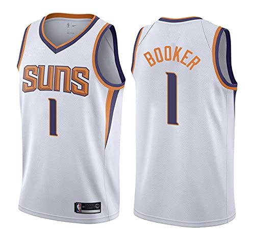 YXST Camiseta de Baloncesto NBA Soles # 1 Malla Bordada de PoliéSter Top,CláSico Transpirable Chaleco de Secado RáPido,RéPlica de Jugador de Baloncesto,6,S