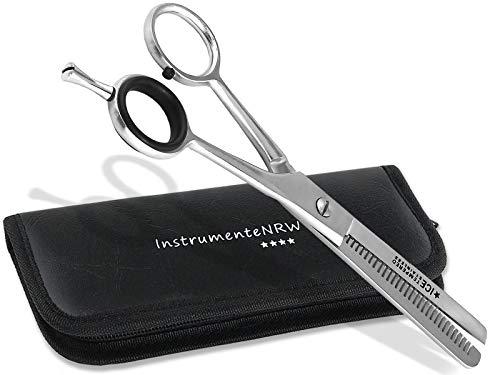 Premium Effilierschere - Modellierschere - Friseurschere - Haarschere - Ausdünnzahnung mit praktischem Aufbewahrungs-Etui (Nr. 6 = 6 Zoll Modellierzahnung 1-seitig)
