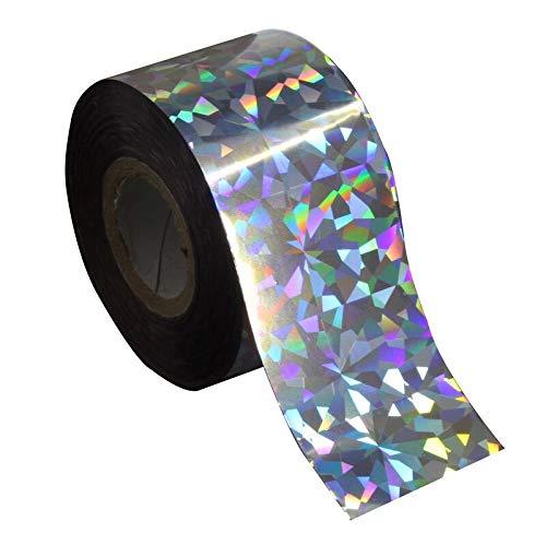 D'Ongle Autocollants Transfert Holographique Glitter Couleur Argent En Plastique Feuille De Transfert D'aluminium 120m * 4cm Effet Arc-En-Ciel Laser Ongles DIY Craft Starry Sky