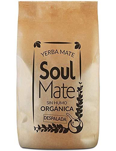 Yerba Maté Soul Mate Despalada, SOUL MATE SIN HUMO DESPALADA 500g, 100 % yerba maté despalada certifiée bio, Forte stimulation, Sans tiges