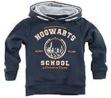 HARRY POTTER Hogwarts School Unisex Felpa con Cappuccio Blu Navy 128 100% Cotone Regular