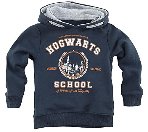 HARRY POTTER Hogwarts School Unisex Sudadera con Capucha Azul Marino 152