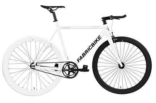 FabricBike Light - Fixed Gear Fahrrad, Single Speed Fixie Starre Nabe, Aluminium Rahmen und Gabel, Räder 28