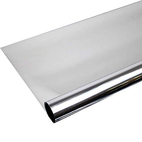 Rapid Teck® 7,32€/m² 300 x 91 cm Spiegelfolie Kratzfest Sonnenschutzfolie UV Schutz Sichtschutzfolie 99% UV-Schutz selbstklebend