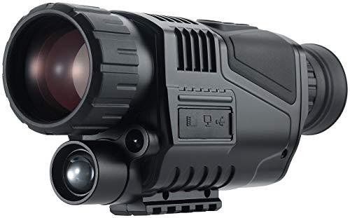 Zavarius Nachtsichtkamera: Monokulares HD-Nachtsichtgerät mit 5-facher Vergrößerung, bis 500 m (Fernglas)